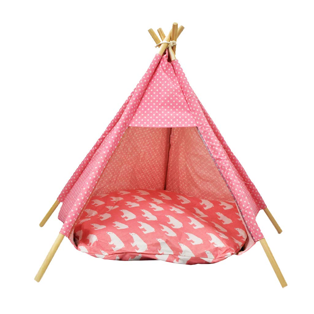 B Pet Teepee Dog(Puppy) & Cat Bed  Portable Indoor Pet Tents & Houses for Dog(Puppy) & Cat,Five colors(52  72cm)