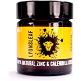 Zinc and Calendula Cream 100% Natural - for spots, blemishes, breakouts, rashes, problem skin and nappy rash … (30ml)