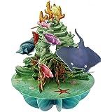 Santoro 3D Pop-up-Pirouette-Carte de v?ux Motif vie Marine