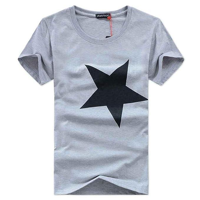 Camiseta de Manga Corta Impresa Hombres 100% del algodón: Amazon.es: Ropa y accesorios