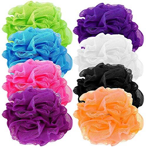(Counterfeit Blonde's Mesh Bath Sponges, (8-Pack) Multi-Color Bath Loofah Sponge Assortment)