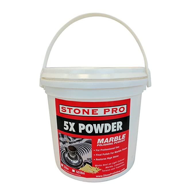 Stone Pro 5x Powder - Marble Polishing Powder - 3 Pound