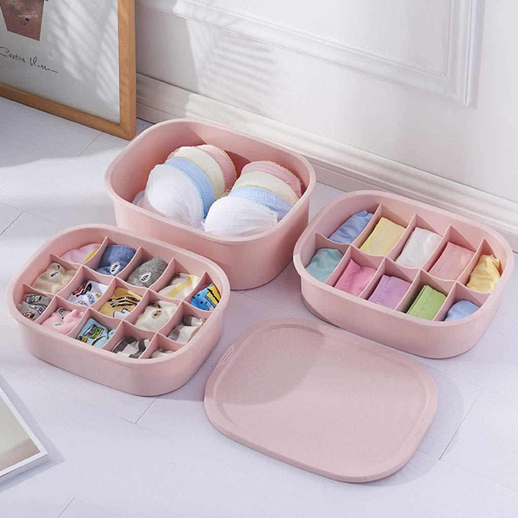 Provide The Best Caja de almacenamiento de ropa interior Calcetines Inicio sujetador ropa interior de las bragas del caso del organizador Caja de ...
