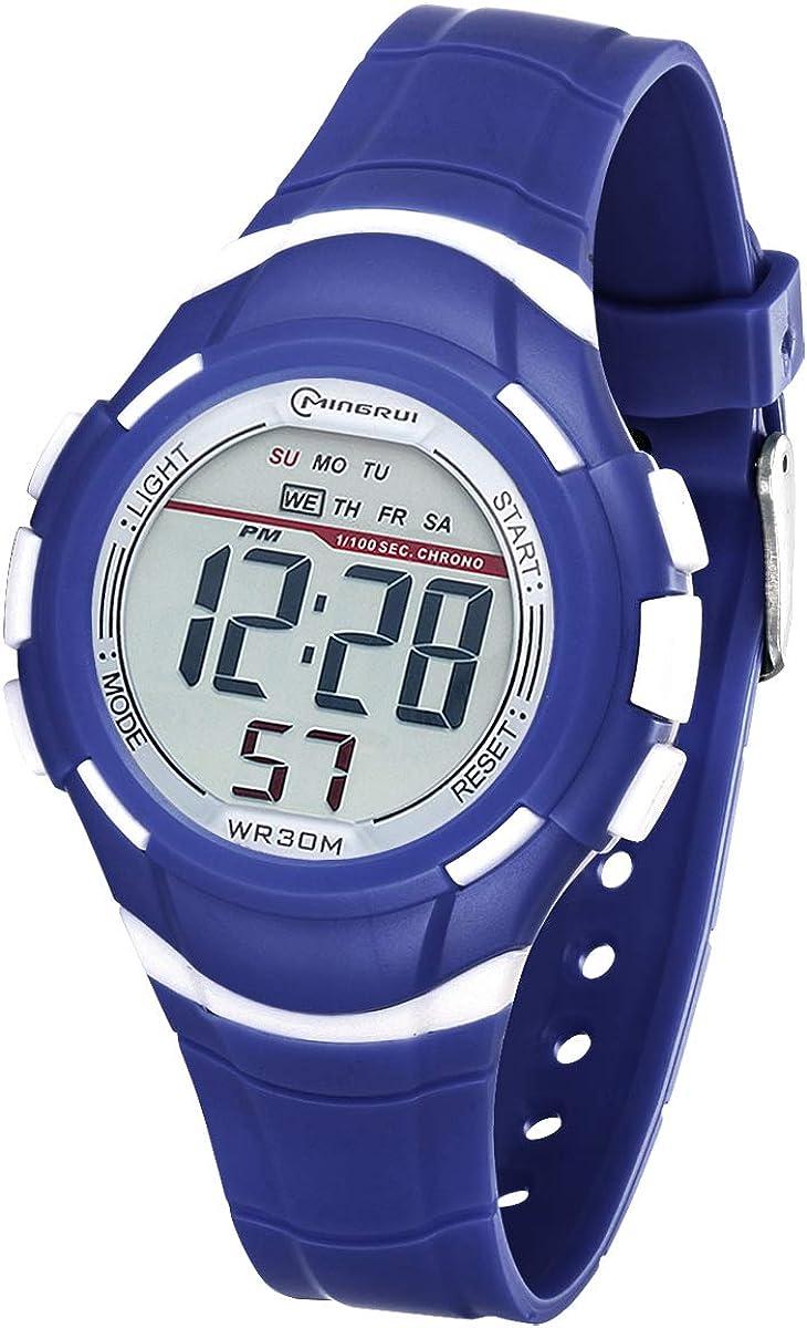 Reloj Digital Deportivo para Niños, Reloj de Pulsera Niña Multifunción con Pantalla LED Impermeable 30M para Niños, Niñas Reloj Infantil Aprendizaje para Niños 4-15 Años