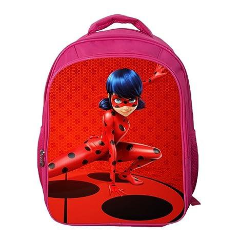 32532002a3 Haililais Unisex Zaino Stampa Cartoni Animati Zainetti per Bambini  Miraculous Ladybug Zaino Scuola Zaino per Escursioni