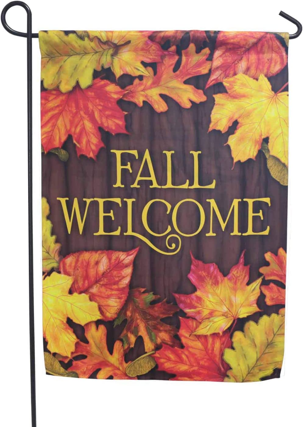 LAYOER 12 x 18 Inch Garden Flag Autumn Fall Leaf Welcome House Home Double Sided
