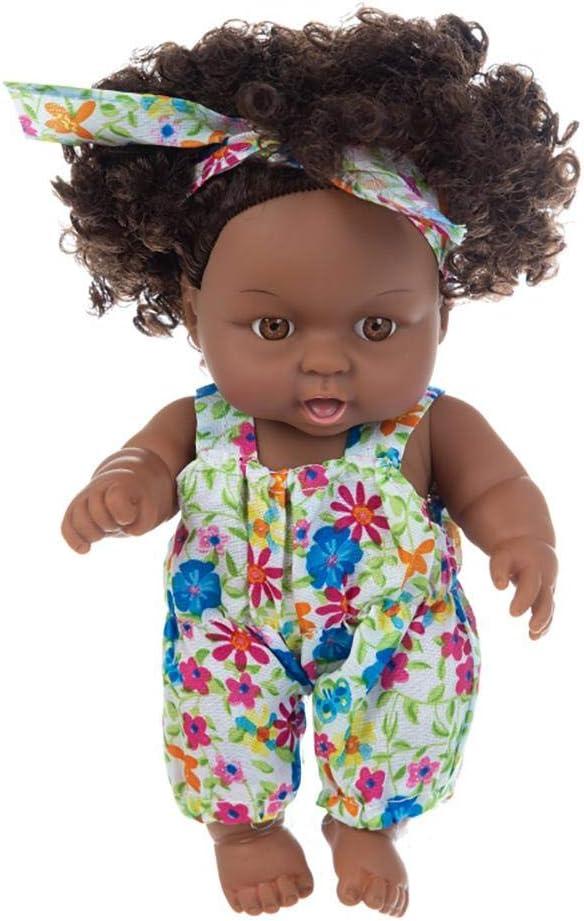 Peau noire 22 Pouce Silicone Bébés Reborn Réaliste Princesse Fille Poupées Réaliste Reborn