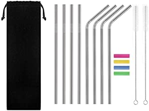 "Giveaway: Lomantown Set of 8 Stainless Steel Straws 10.5"" Ultra..."