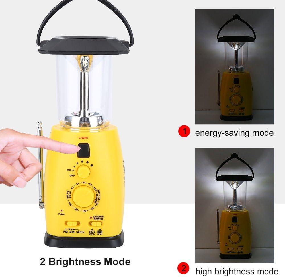 Tbest Kurbelradio mit integrierter Lampe