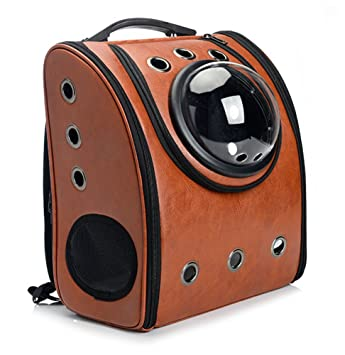 b7bb10ba6ce Buy Vedem Pet Carrier Bag Cat Dog Traveler Bubble Backpack (Brown) Online  at Low Prices in India - Amazon.in