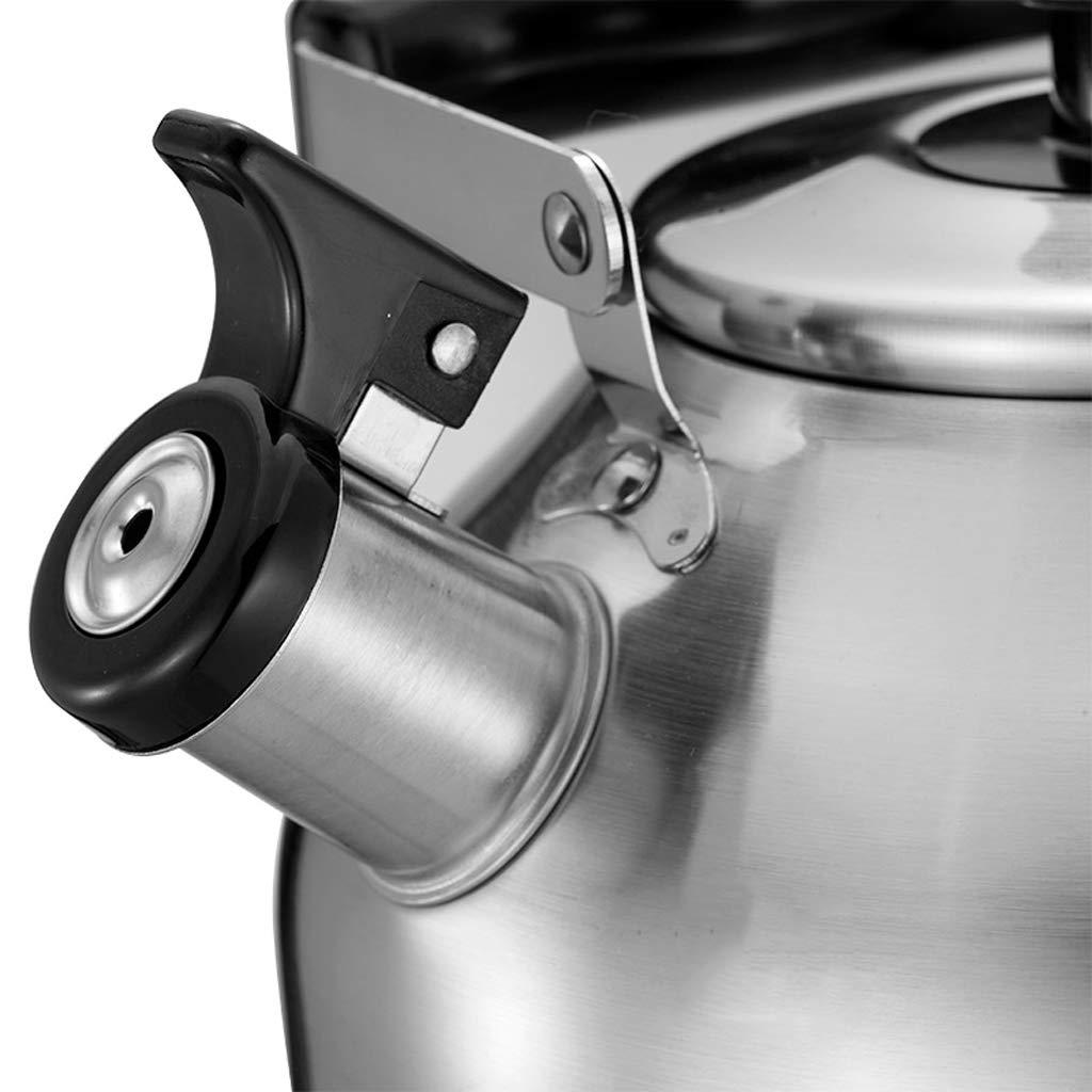Cocina de Gas del silbido del Agua de la Caldera del Acero Inoxidable 304 Universal 3L UOMUN: Amazon.es