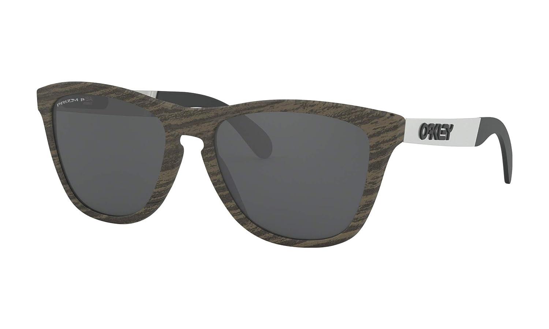 [オークリー] OAKLEY サングラス Frogskins Mix フロッグスキン ミックス (OO9428-0755~1155) [並行輸入品]  フレーム: Woodgrain / レンズ: Prizm Black Polarized B07SLXDHC1