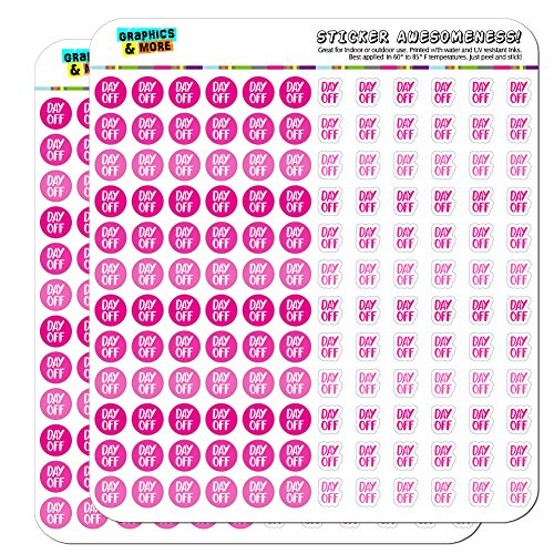 Day Off Dots Planner Calendar Scrapbooking Crafting Stickers - Pink - Clear