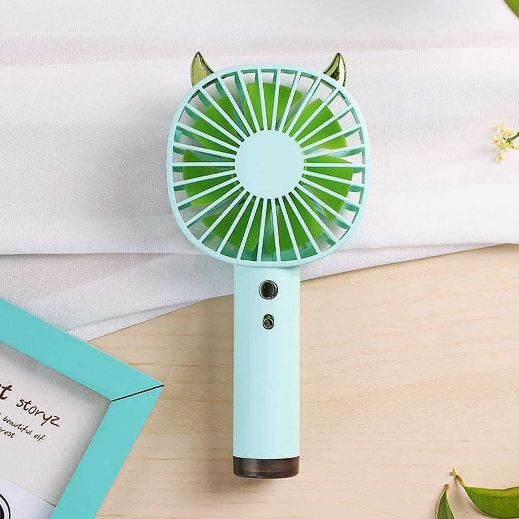 Personal Rechangable Battery Operated Portable Fan Brown Denzar 2000mAh Portable Handheld Fan USB Electric Fan,3 Speed Fan for Indoor Outdoor Travel Camping Home and Office Use