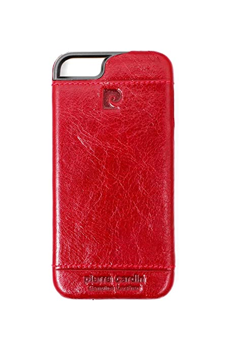 online store 9b777 d749d Pierre Cardin Leather Back Cover Case Shell Cover for Apple iPhone 5 5S-Red