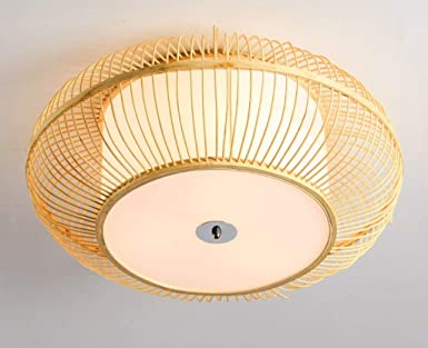 Luz de techo de bambú, lámparas de techo de estilo japonés ...