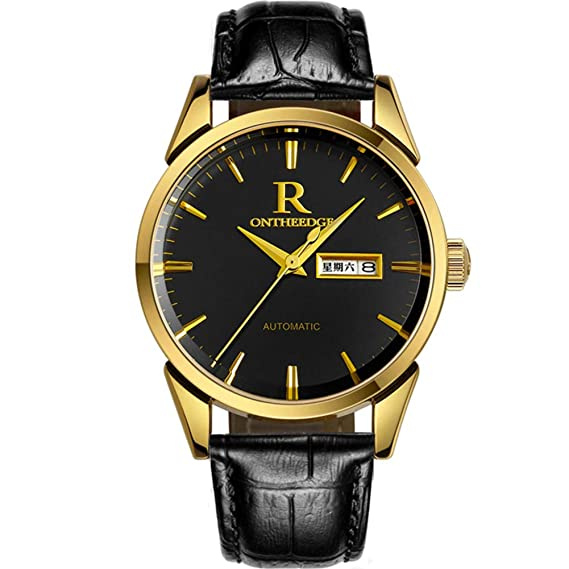 Watchesbrand Suizo Relojes de los Hombres Impermeables Reloj Fabricantes de Correa de Cuero Agente de reclutamiento-Alibaba Venta por Mayor-J: Amazon.es: ...