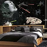 RoomMates JL1399M Star Wars Vehicles X-Large Chair Rail Prepasted Mural, Ultra-strippable, 6' x 10.5'