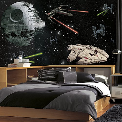 (RoomMates Star Wars Classic Vehicles  Removable Wall Mural - 10.5 feet X 6 feet)