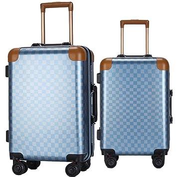 Maleta 20in 24in Hardshell 2 piezas Juego giratorio de equipaje Equipaje anidado Maletas de viaje Maletas Maletas para llevar Monturas verticales 360 ...