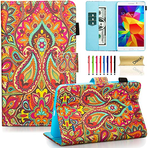 Galaxy Tab 4 7.0 Case, Samsung T230 Case, Dteck Art Print Slim PU Leather Stand Case with Card Slots Magnetic Closure Protective Cover for Samsung Galaxy Tab 4 7.0
