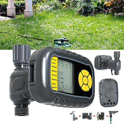 MAMASAM Automatic Water Timer Solar Programmable Garden Irrigation System Outdoor Automatic Watering Controller