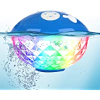 Bluetooth Speakers with Colorful Lights, Portable Speaker IPX7 Waterproof Floatable, Built-in Mic,Crystal Clear Stereo…