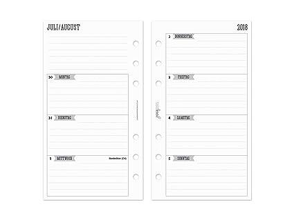 2018/2019 Calendario Líneas Anillo con rayas para agenda ...