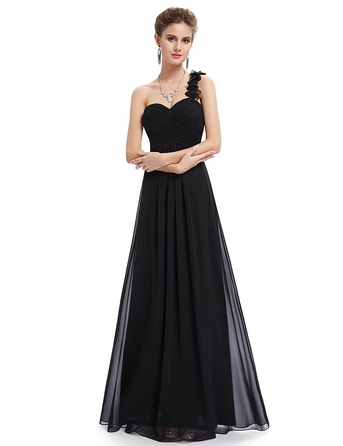 Ever Pretty Flower One Shoulder Empire Waist Floor Length