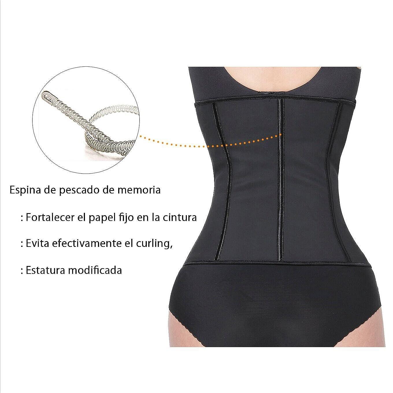 Tirain Corsé Faja Cinturón Reductora Underbust Bustiers Cincher Moldeador Corset para Mujer (XL, Negro): Amazon.es: Ropa y accesorios