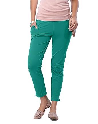 Go Colors Ladies Kurti Pants Peacock Green Short Large Amazon