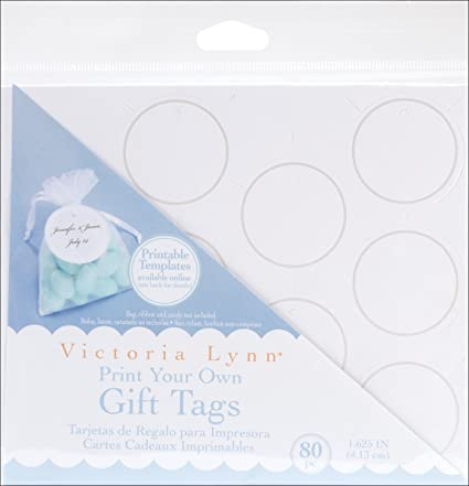 graphic relating to Printable Round Tags known as Darice VL295 Printable Spherical Reward Tag with Pearl Accessory, 80 For every Pack, White/Silver