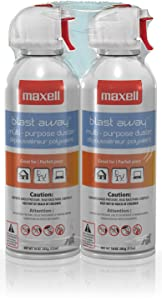 Maxell 190026 Blast Away Canned Air 154a Formula, 10 0z., 2-Pack