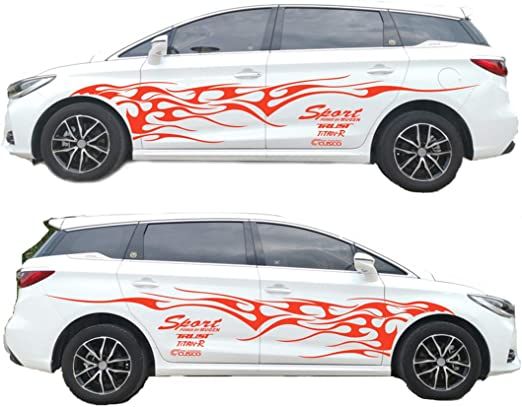 3D Flame Car Art Vinyl Decal Funny Car Truck Motorcycle Window Laptop Sticker GX