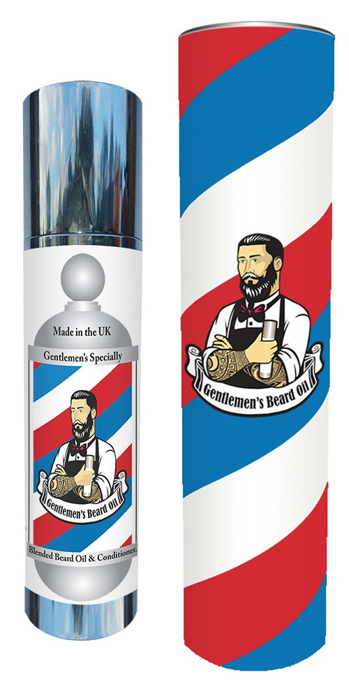 Gentlemen's traditional 100ml barbers beard oil-100% Chemical Free-Making beard care so simple-A Beard softener That is designed to CONDITION & NOURISH the hair follicles at the roots - Giving YOU A THICKER-FASTER-GROWTH-A beard conditioner and beard m