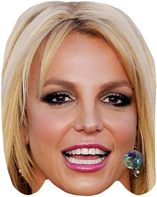 Britney Spears tarjeta de máscara de celebridad, cara y Fancy ...