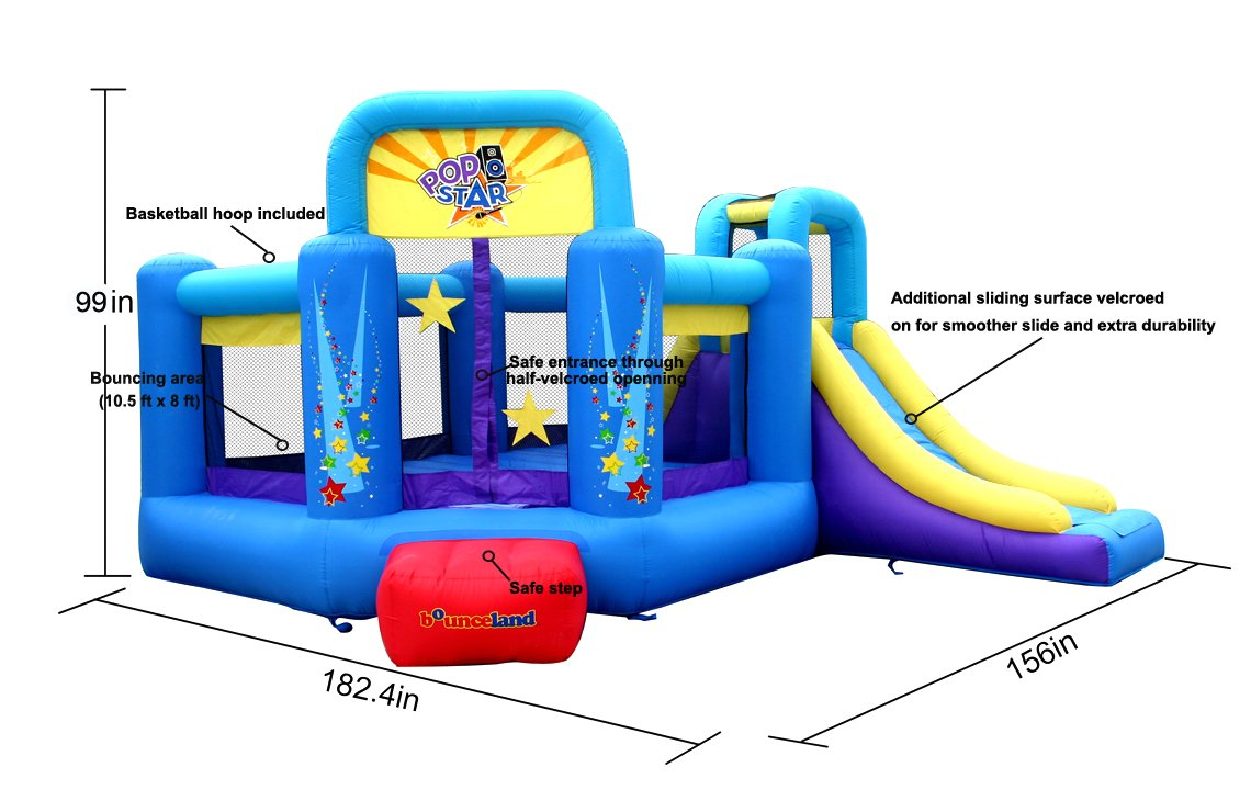 Bounceland Pop Star Inflatable Bounce House Bouncer by Bounceland (Image #3)