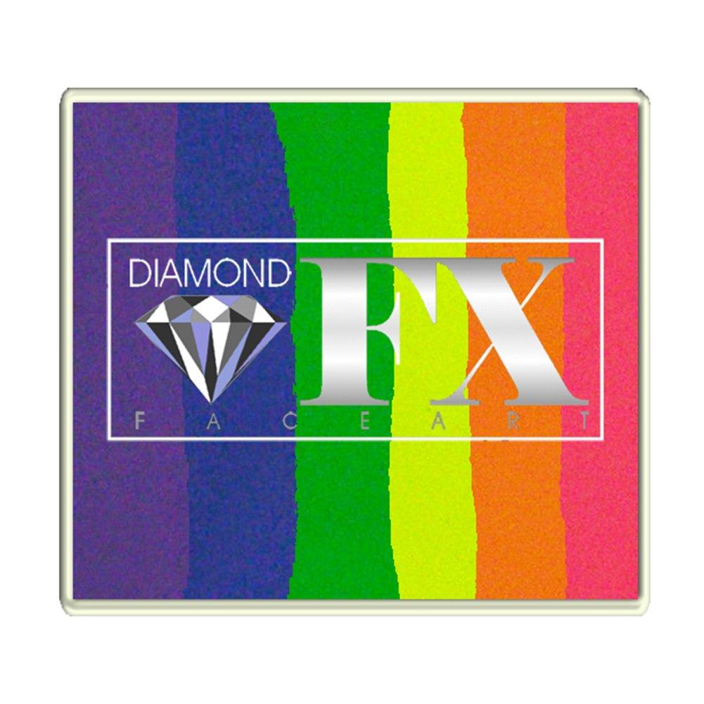 Diamond FX 50g Split Cake Face Paint ~ Neon Nights (RS50-7) by Diamond FX Split Cakes