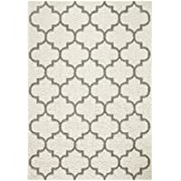 Area Rugs, Maples Rugs [Made in USA][Molly] 7 x 10 Non Slip Padded Large Rug for Living Room, Bedroom, and Dining Room - Cream