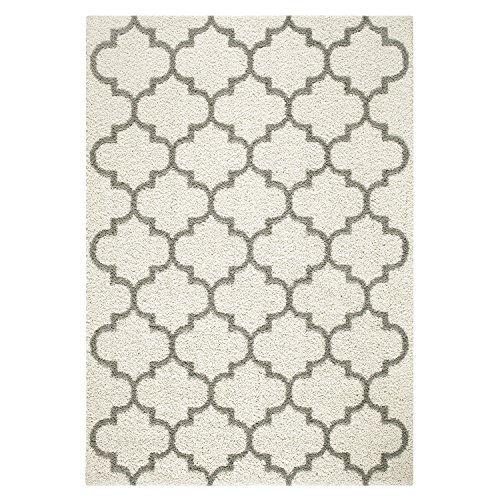 Area Rugs, Maples Rugs [Made in USA][Molly] 7' x 10' Non Slip Padded Large Rug for Living Room, Bedroom, and Dining Room - Cream by Maples Rugs