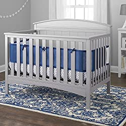 BreathableBaby Deluxe Cable Weave 4 Piece Bedding Set, Navy
