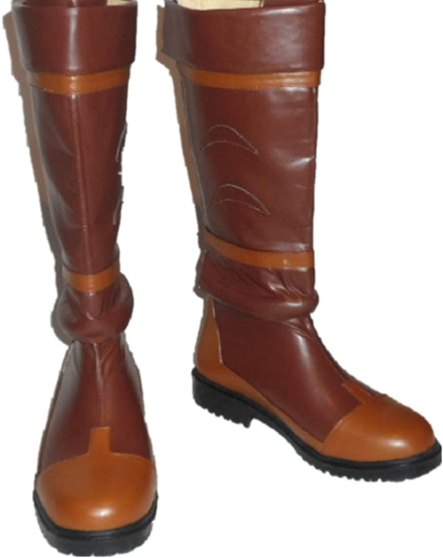 New The Legend of Zelda Link Anime Brown Costume Shoes Cosplay Boots #PP