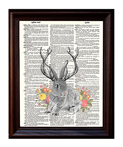 Used, Dictionary Art Print - Jackalope - Printed on Recycled for sale  Delivered anywhere in USA