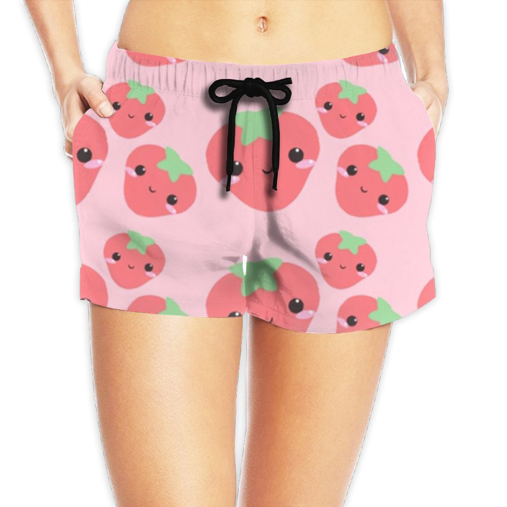 MARLON WILSON Shy Strawberry Unique Drawstring Elastic Waist Sexy Beach Shorts Summer Hot Pants For Woman Girls