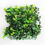 ULAND Artificial Hedges Panels, Boxwood Greenery Ivy Privacy Fence Screening, Home Garden Outdoor Wall Decoration, Pack of 4pcs 10''x10''