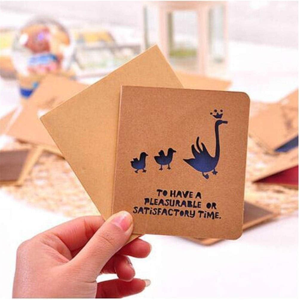 Size : 20 Sheets QIANZICAI Christmas Card Custom Creative Gift Creative Retro Card//Gift Card//Business Card//Birthday Card Greeting Card Style Random Retro Kraft Paper Hollow Greeting Card