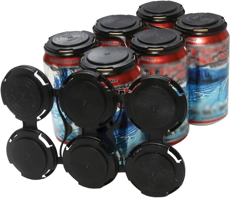 Cool Coast Products - Six (6) Pack Beer Can Holder Carriers | 20 Package | 100% Recycled Plastic Can Carrier Holders | 12oz or 16oz USA Made for Breweries | Homebrewing Beverage Canner (20)
