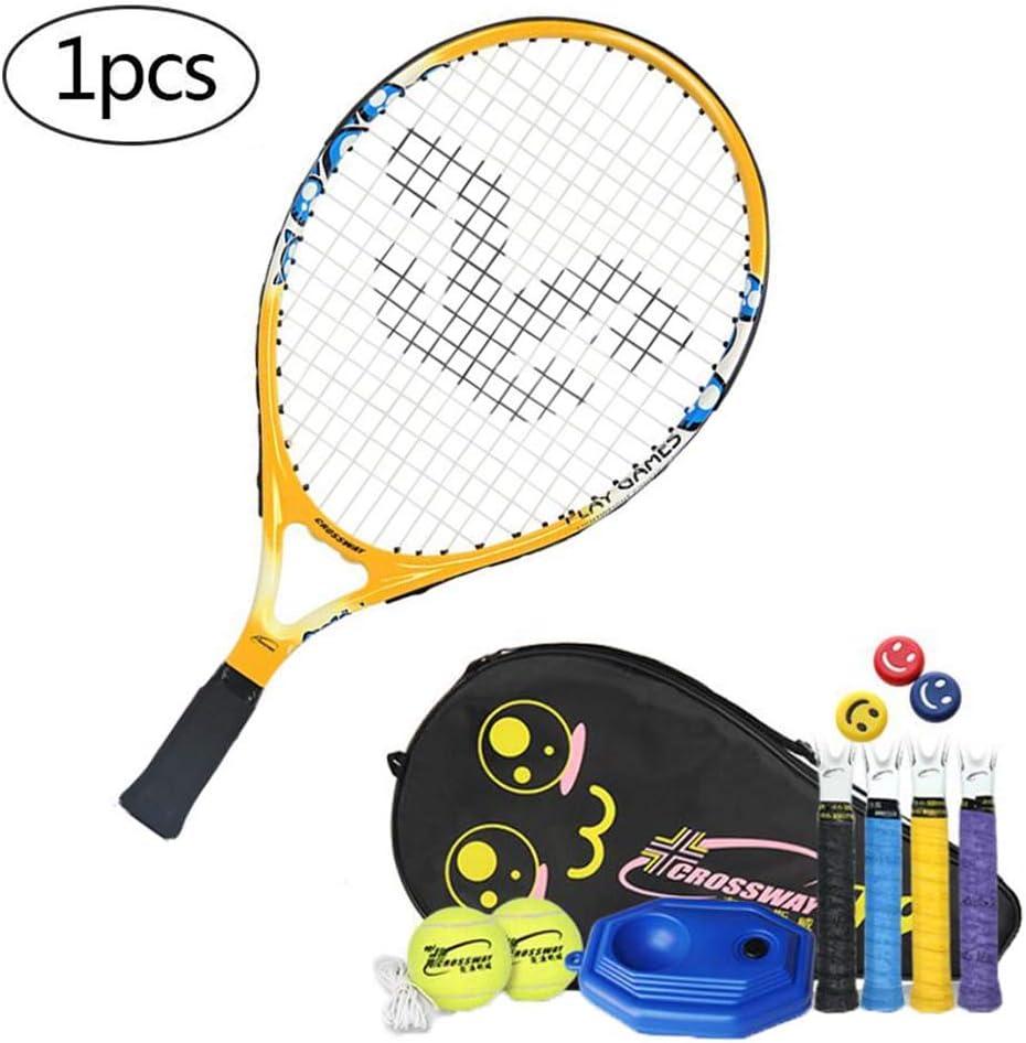 FXQIN Juguete de Raqueta de Tenis para Niños, Raquetas De Tenis De Cuerda con 2 Pelota De Tenis Y Bolsa de Transporte, 19 Pulgadas Raqueta de Tenis para Entrenamiento