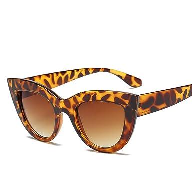 3e54d110a523 Amazon.com: Oversized Square Sunglasses Cat's Eye Sunglasses(Leopard ...