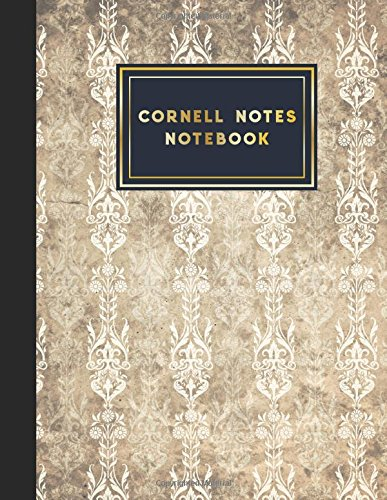 """Download Cornell Notes Notebook: Note Taking Notebook, For Students, Writers,school supplies list, Vintage/Aged Cover, 8.5"""" x 11"""", 200 pages (Volume 12) PDF"""